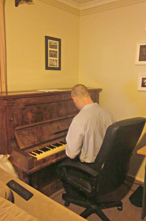 Mr C on the piano